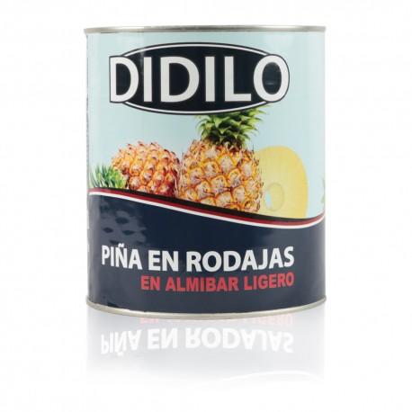 PIÑA EN RODAJAS EN ALMIBAR LIGERO DIDILO LATA 3100 ML