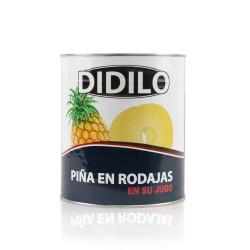 PIÑA EN RODAJAS EN SU JUGO DIDILO LATA 3100 ML