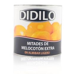 MELOCOTON MITADES EN ALMIBAR LIGERO DIDILO 30/40 LATA 2650 ML