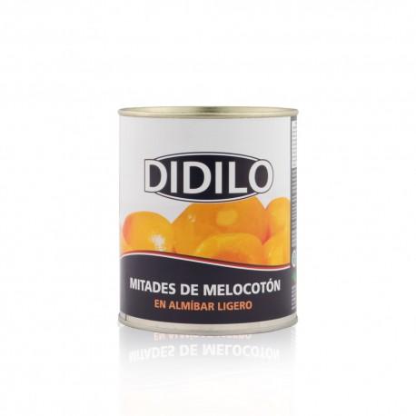 MELOCOTON MITADES EN ALMIBAR LIGERO DIDILO LATA 850 ML