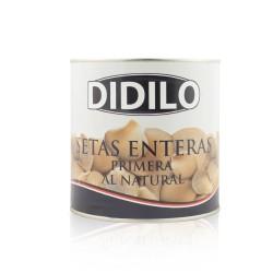 SETAS ENTERAS AL NATURAL DIDILO LATA 2650 ML