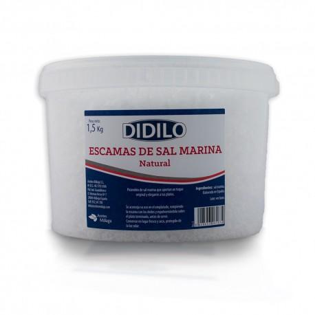 SAL NATURAL EN ESCAMAS DIDILO CUBO 1.5 KG