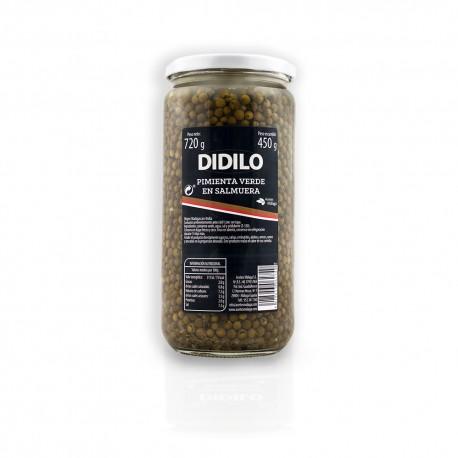 Pimienta verde salmuera Didilo tarro cristal 720 gramos