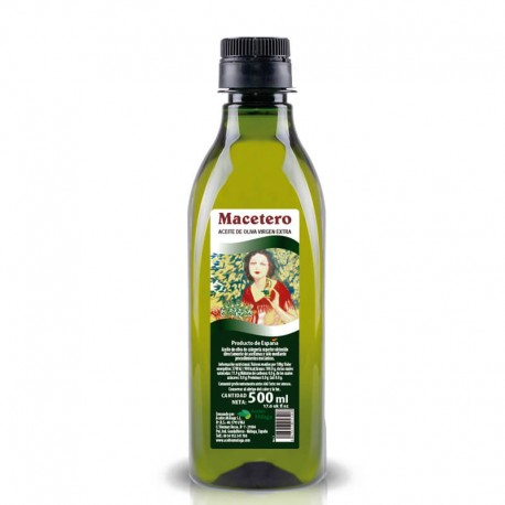 MACETERO OLIVA VIRGEN EXTRA 500 ML. PET BERTOLI